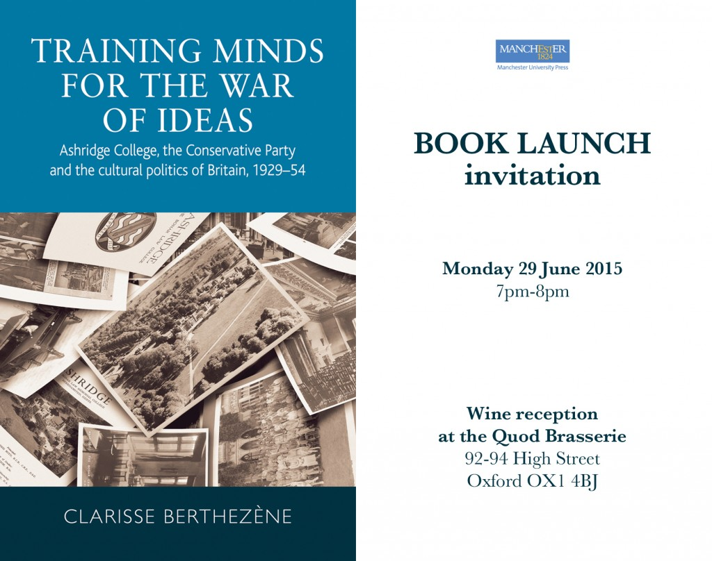 Training Minds book launch poster.
